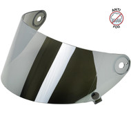 Biltwell Gringo S Flat Shield Anti Fog - Chrome Mirror