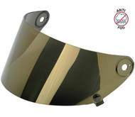 Biltwell Gringo S Flat Shield Anti Fog - Gold Mirror
