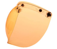 Z1R - 3 Snap Flip Up Bubble Shield - Amber