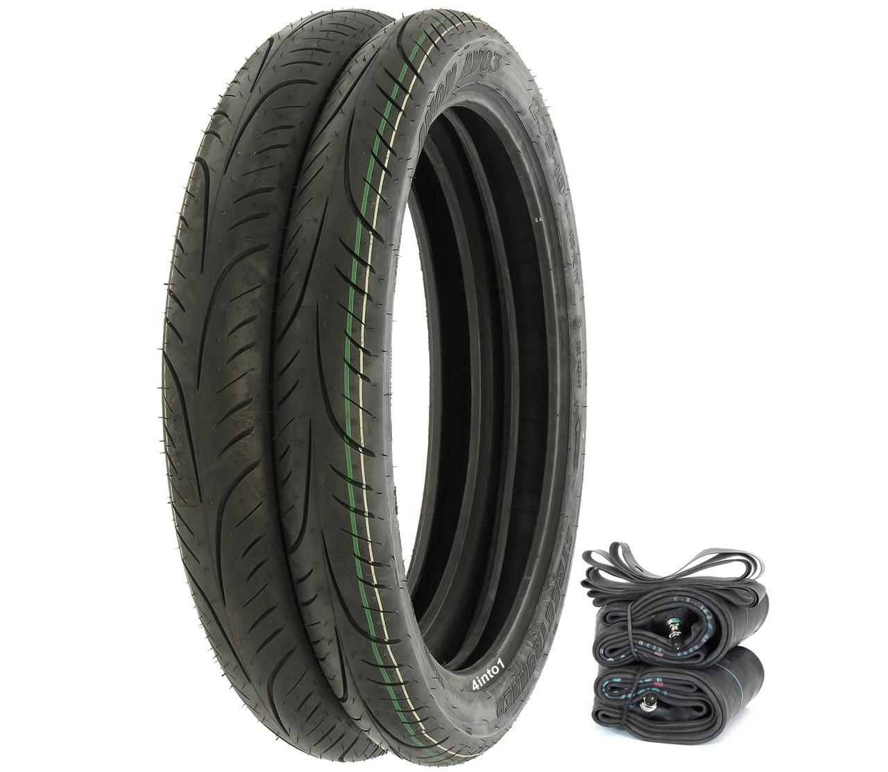 Avon Motorcycle Tires >> Avon Av83 Streetrunner Tire Set Honda Cb Cl100 160 Cb92