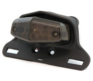 Lucas Style LED Tail Light Assembly - Matte Black w/ Smoke Lens