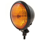 "4.5"" Bottom Mount Halogen Headlight - Gloss Black w/ Amber Lens"
