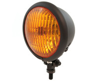 "4.5"" Bottom Mount Halogen Headlight - Matte Black w/ Amber Lens"