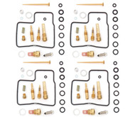 Set of 4 Deluxe Carburetor Rebuild Kits - Honda GL1200 Gold Wing