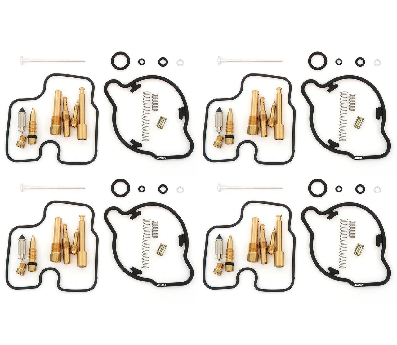 Honda CBR600F2 Set of 4 Deluxe Carburetor Rebuild Kits CBR600-1991-1994