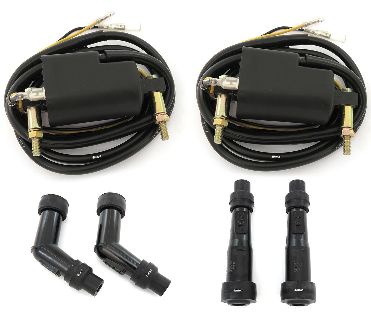 4 ohm Coils and Caps - Kawasaki KZ650/900/1000 - Suzuki GS550/750/850/1000