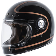 Torc T1 Helmet - Gloss Black Copper Pin