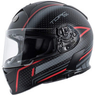 Torc T14 Mako  Helmet - Flat Black Scramble Red