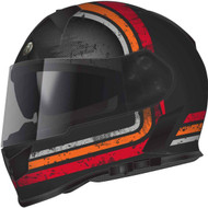 Torc T14 Mako Helmet - Flat Black Streamline Orange