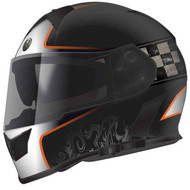Torc T14B Mako Bluetooth Helmet - Flat Black Orange Champion