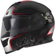 Torc T14B Mako Bluetooth Helmet - Flat Black Red Champion