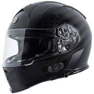 Torc T14B Mako Bluetooth Helmet - Flat Black Flag