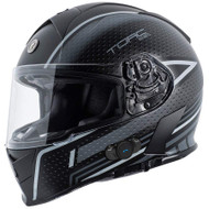 Torc T14B Mako Bluetooth Helmet - Flat Black Scramble Grey
