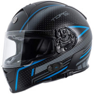 Torc T14B Mako Bluetooth Helmet - Flat Black Scramble Blue