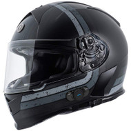 Torc T14B Mako Bluetooth Helmet - Flat Black Streamline Grey