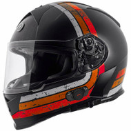 Torc T14B Mako Bluetooth Helmet - Flat Black Streamline Orange
