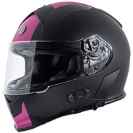 Torc T14B Mako Bluetooth Helmet - Flat Black Speed & Style Pink
