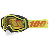 100% Racecraft Snow Goggles - Attack with Yellow Lens