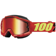 100% Accuri Snow Goggles - Saarinen with Red Lens