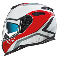 Nexx SX100 Helmet - Popup White/Red