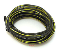OEM Colored Electrical Wire 13' Roll - Black / Yellow Stripe