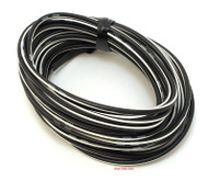 OEM Colored Electrical Wire 13' Roll - Black / White Stripe