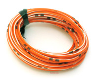 OEM Colored Electrical Wire 13' Roll - Orange / White Stripe