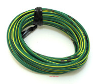 OEM Colored Electrical Wire 13' Roll - Green / Yellow Stripe