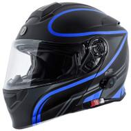 Torc T28B Modular Bluetooth Helmet - Flat Black Vapor Blue