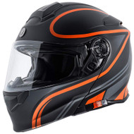 Torc T28 Modular Helmet - Flat Black Vapor Orange