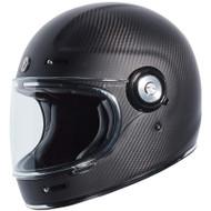 Torc T1 Helmet - Flat Black Trans Carbon