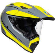 AGV AX9 Helmet - Pacific Road Matte Grey / Yellow Fluorescent / Black
