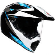 AGV AX9 Helmet - North Black / White / Cyan