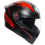 AGV K1 Helmet - Warmup Matte Black / Red