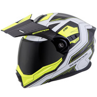 Scorpion EXO AT950 Helmet - Tucson White / Neon