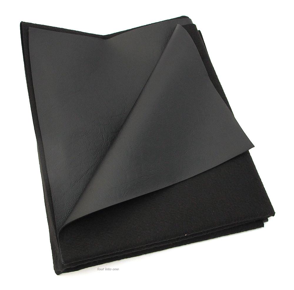 Texhide Black Vinyl Motorcycle Seat Cover Fabric Matte