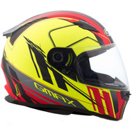 GMAX FF49 Rogue Helmet - Matte Black / Hi-Vis Yellow / Red