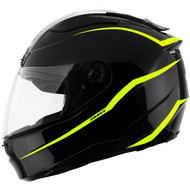 GMAX FF88 Precept Helmet - Black / Hi-Vis Yellow