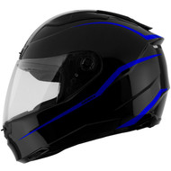 GMAX FF88 Precept Helmet - Black / Blue