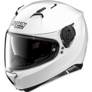 Nolan N87 Solid Helmet - Metallic White