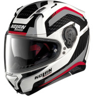 Nolan N87 Arkad Helmet - White / Black / Red