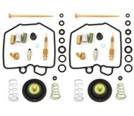 Deluxe Carburetor Rebuild Kit w/ Air Cut Off Valves - Honda CM400T CM400C CM400E - 1980-1981