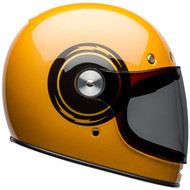 Bell Bullitt Helmet w/Flat Clear Shield - Bolt Gloss Yellow / Black