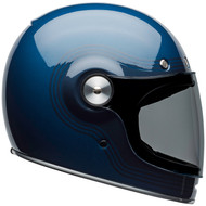 Bell Bullitt Helmet w/Flat Clear Shield - Flow Gloss Light Blue / Dark Blue