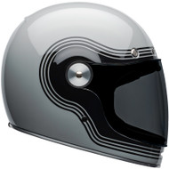 Bell Bullitt Helmet w/Flat Clear Shield - Flow Gloss Gray / Black