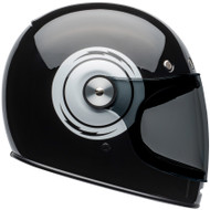 Bell Bullitt Helmet w/Flat Clear Shield - Bolt Gloss Black / White