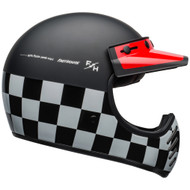 Bell Moto-3 Helmet - Fasthouse Checkers Matte / Gloss Black / White / Red