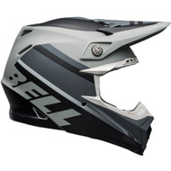 Bell Moto-9 MIPS-Equipped Helmet - Prophecy Matte Gray / Black / White