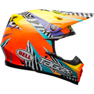 Bell Moto-9 MIPS-Equipped Helmet - Tagger Breakout Gloss Orange / Yellow