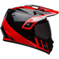 Bell MX-9 Adventure MIPS-Equipped Helmet - Dash Gloss Black / Red / White